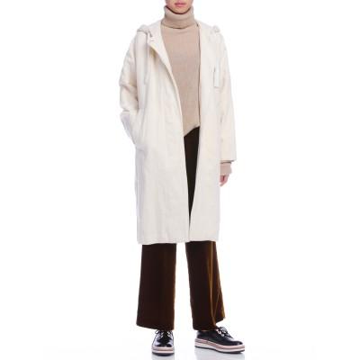 フーデッド コート ホワイト 38