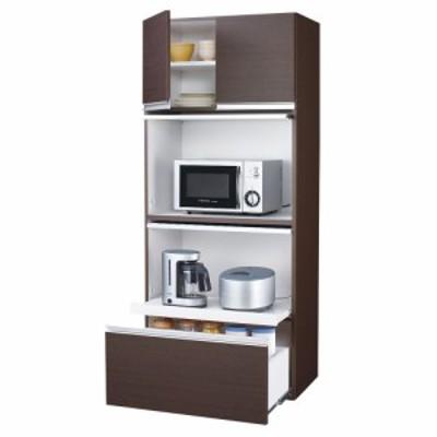 家具 収納 キッチン収納 食器棚 レンジ台 レンジラック 組立不要!家電を隠せるキッチン収納シリーズ レンジラック幅78cm 549527