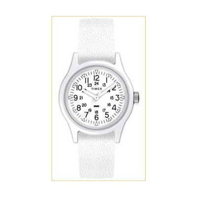 Timex Camper 29 mm White Leather Strap Watch TW2T96200 並行輸入品