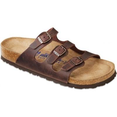 ビルケンシュトック Birkenstock レディース サンダル・ミュール シューズ・靴 Florida Oiled Leather Soft Footbed Sandals Habana