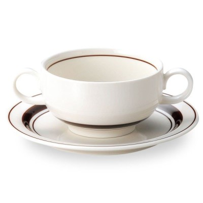 スノートンボーダー ブイヨンカップ&ソーサー(16cmパン皿) カントリー cafe カフェ 食器 業務用 日本製