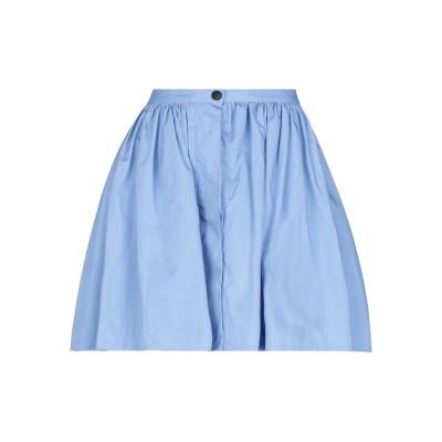 WEILI ZHENG ミニスカート アジュールブルー M コットン 100% ミニスカート