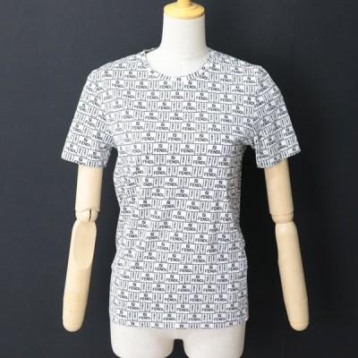 e12619 即決 本物 正規品 FENDI フェンディ ロゴ トップス Tシャツ 半袖 サイズXS メンズ 夏用 ホワイト ブラック
