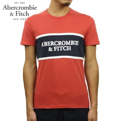 アバクロ Tシャツ メンズ 正規品 Abercrombie&Fitch 半袖Tシャツ クルーネックTシャツ ロゴTシャツ SHORT-SLEEVE APPLIQUE LOGO TEE 123-238-2559-504