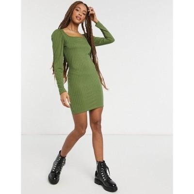 ミスセルフフリッジ レディース ワンピース トップス Miss Selfridge sweetheart neck mini dress green Green