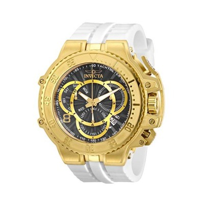 Invicta Men's Excursion Stainless Steel Quartz Watch with Silicone Strap, White, 33.3 (Model: 27511) 並行輸入品