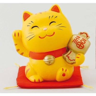 幸せ招き猫 小 とら(小槌)