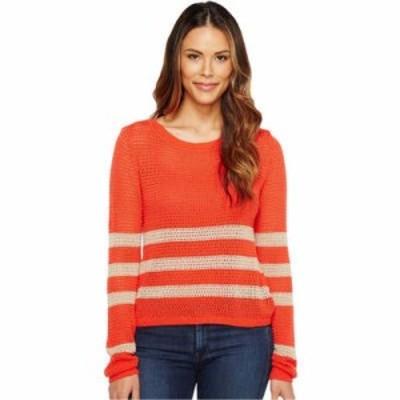 スプレンディッド ニット・セーター Stripe Pullover Coral/Heather Oatmeal