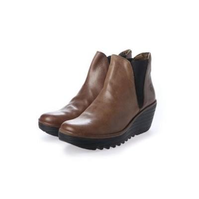 ヨーロッパコンフォートシューズ EU Comfort Shoes FLYLONDON ショートブーツ(500.431) (ブラウン)