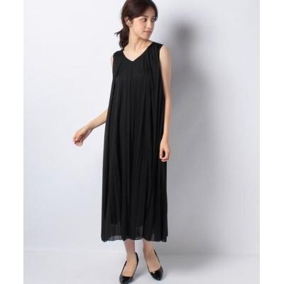 ANAYI/アナイ ★トリコットシフォンプリーツワンピース ブラック5 36