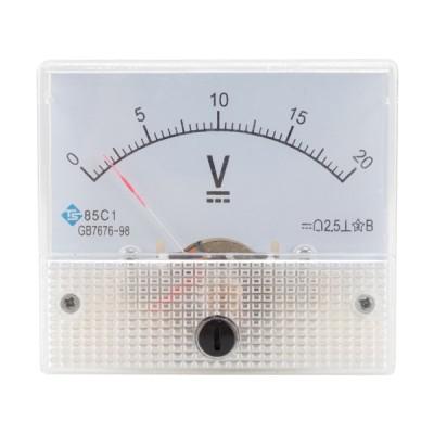 85C1アナログパネルメーター電圧計DCボルト電圧計DC0-20V
