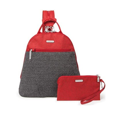 Baggallini Anti Theft Convertible Backpack, Ruby Antitheft 並行輸入品