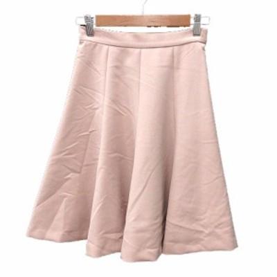 【中古】クミキョク 組曲 KUMIKYOKU フレアスカート ひざ丈 S1 ピンク /MN レディース
