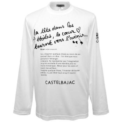 30%OFF 2020秋冬 カステルバジャック バックプリント長袖Tシャツ(白)(M、L、LL) TS*022167012101