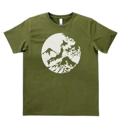 デザイン Tシャツ 日本 JAPAN カーキー MLサイズ