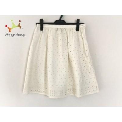 マドモアゼル タラジャーモン ミニスカート サイズ38 M レディース 美品 - 白 新着 20200922