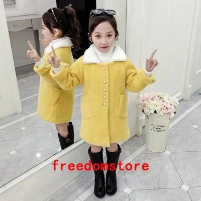 子供コートダッフルコート女の子可愛い防寒コートアウター韓国風秋冬チェック子供服ダッフルコート