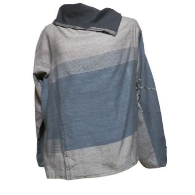 ブラウス アジアン衣料 ネパール・コットン・ラップブラウス5 クリックポスト選択 送料200円