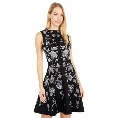 テッドベーカー ワンピース トップス レディース Naomyy Rhubarb Jacquard Knitted Dress Black