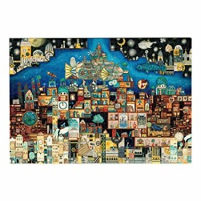 1000 Piece Wooden Jigsaw Puzzle Adult, The Castle of Flatland - Jigsaw Puzzles for Adults Kids Toys Gift