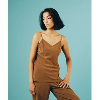 DOUBLE STANDARD CLOTHING / 16匁シルクデシン サンドウォッシュ キャミソール WOMEN トップス > キャミソール