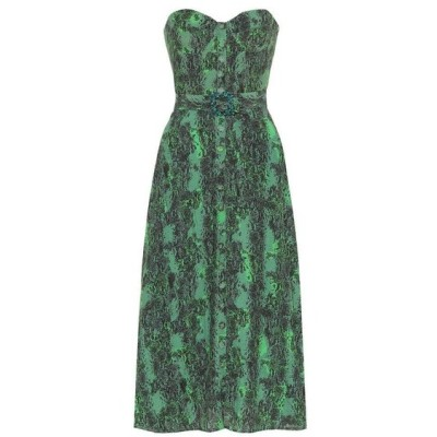 ローテート ROTATE BIRGER CHRISTENSEN レディース ワンピース ビスチェ ミドル丈 ワンピース・ドレス Peggy printed bustier midi dress Stone Green Comb