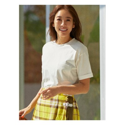 【シューラルー/SHOO・LA・RUE】 【SUPIMA】クルーネックポケットTシャツ