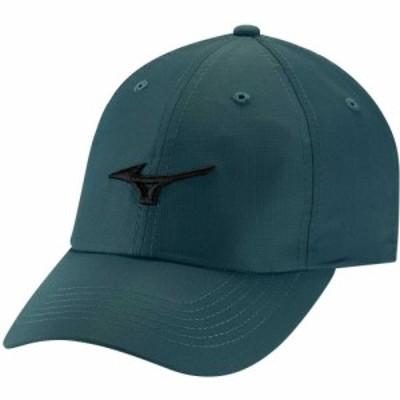 ミズノ Mizuno メンズ キャップ 帽子 Tour Lightweight Golf Hat Petrol/Black