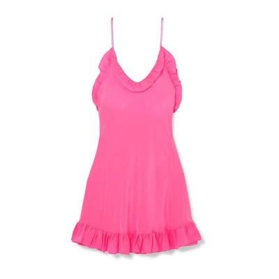 LES REVERIES シルクドレス ファッション  レディースファッション  ドレス、ブライダル  パーティドレス フューシャ