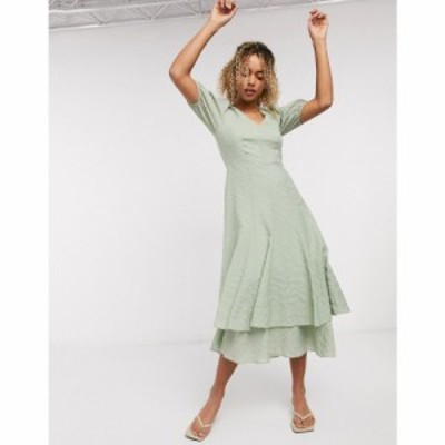 アンドアザーストーリーズ and Other Stories レディース ワンピース マキシ丈 ワンピース・ドレス textured double skirt maxi dress in