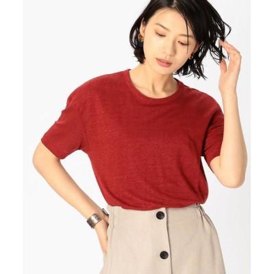 COMME CA ISM/コムサイズム フレンチリネン Tシャツ レッド S