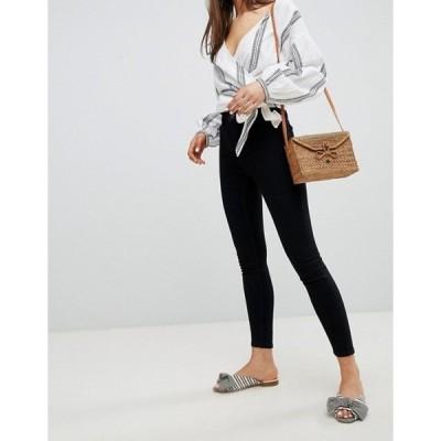 ニュールック レディース デニムパンツ ボトムス New Look high waist skinny jeans in black