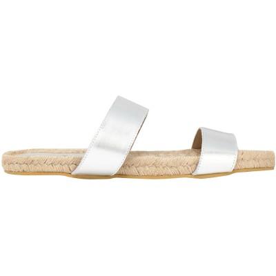IRIS & INK サンダル シルバー 37 紡績繊維 サンダル