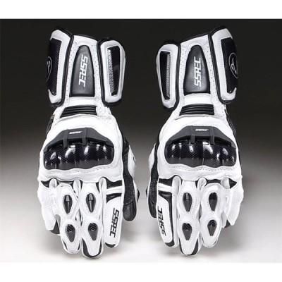 ALI-SP バイク グローブ 本革手袋 通気 防風 バイク用品 防水 7107 白(XL)