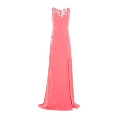 SOANI ロングワンピース&ドレス コーラル 44 ポリエステル 100% ロングワンピース&ドレス