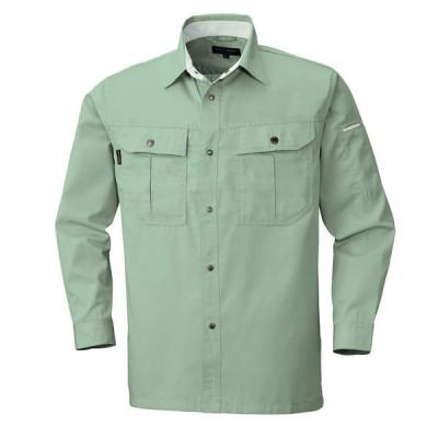 ビッグボーンビッグボーン商事 BEE MAX BM535 長袖シャツ スモークグリーン EL(取寄品)