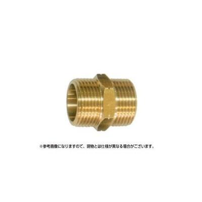 永田 異径ニップル金具 SW32オス×SW32オス(継手・配管部品・ジョイント真鍮製)