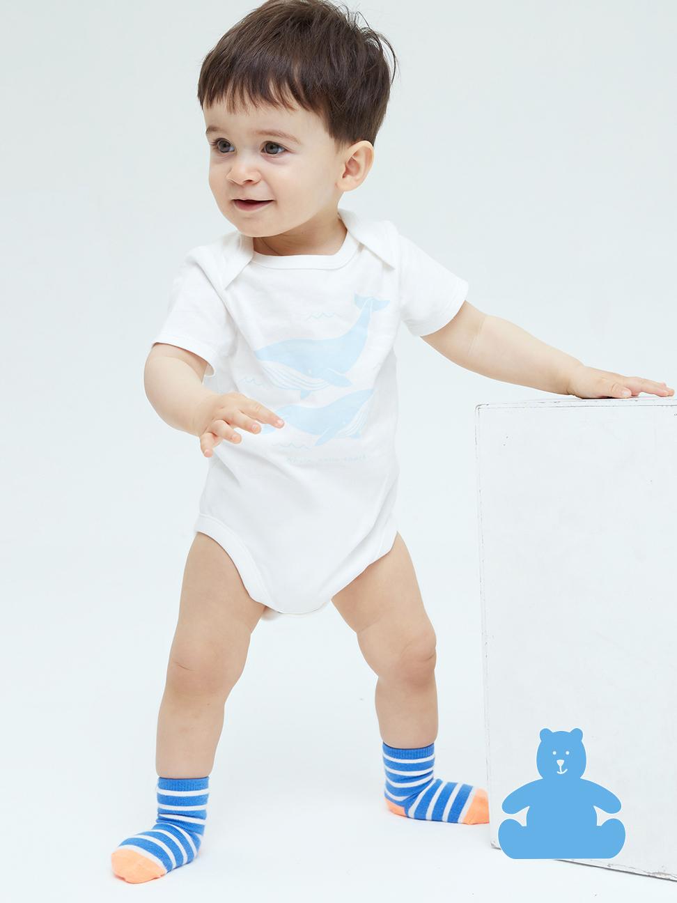 嬰兒 布萊納系列 清爽印花純棉包屁衣