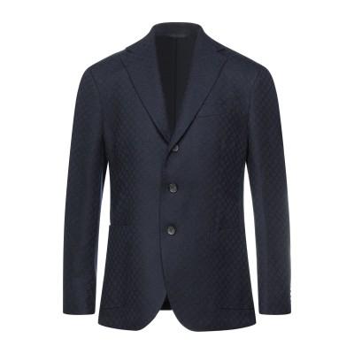 DOPPIAA テーラードジャケット ダークブルー 50 バージンウール 100% テーラードジャケット
