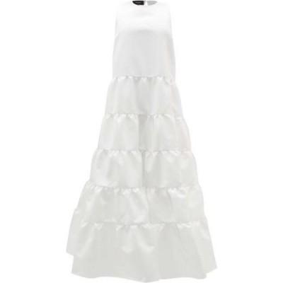 ロシャス Rochas レディース パーティードレス ワンピース・ドレス Duchess-satin tiered gown White