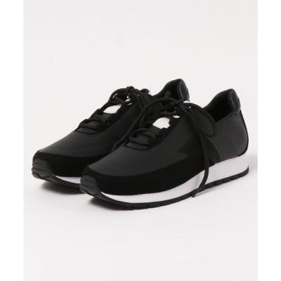 スニーカー テクスチャード レースアップスニーカー / Textured Lace-Up Sneakers