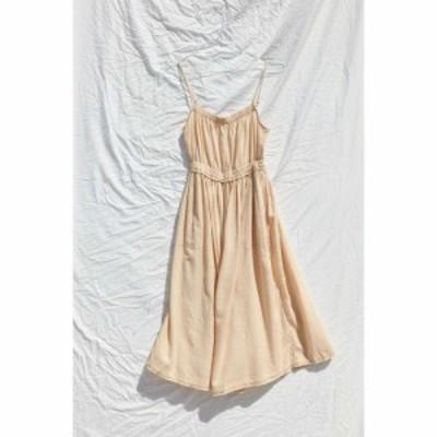 アーバンアウトフィッターズ Urban Outfitters レディース ワンピース ミドル丈 ワンピース・ドレス uo aria linen midi dress Pale Yell