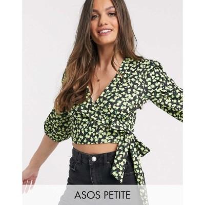 エイソス ASOS Petite レディース トップス ASOS DESIGN Petite wrap top in ditsy print マルチカラー