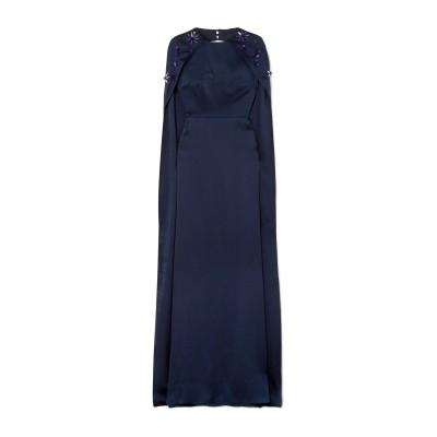 SAFIYAA ロングワンピース&ドレス ダークブルー 34 シルク 100% ロングワンピース&ドレス