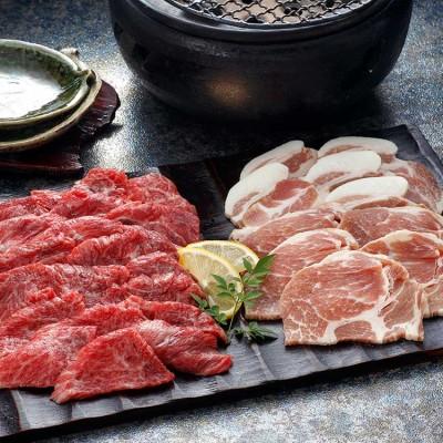 さつまビーフと黒豚'島安納'の焼肉セット ブランド牛で贅沢焼肉