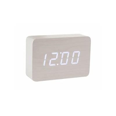 特別価格Gingko Brickホワイトクリッククロック(白色LED付き)好評販売中