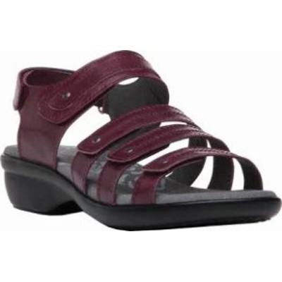 Propet レディースシューズ Propet Aurora Strappy Slingback Sandal Plum F