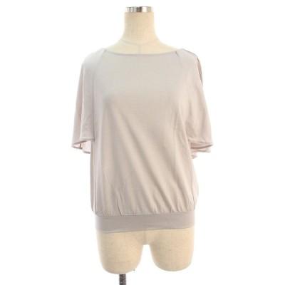 エムズグレイシー Tシャツ カットソー バックリボン リボン 半端袖 38