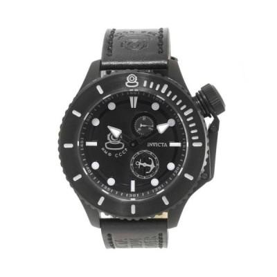 腕時計 インヴィクタ Invicta 22013 Gent's Black Dial Russian Diver Black Band Watch