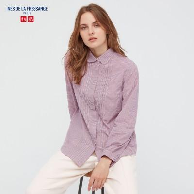 コットンローンチェックシャツ(長袖)